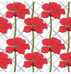 Red Flowers Seamless Pattern 2 vector