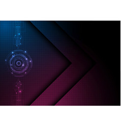 Red light digital technology background vector