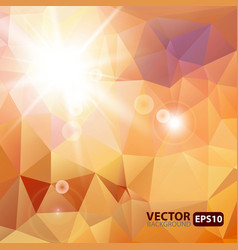 Retro triangle background with sunburst flare vector image