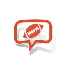 Rugby message sticker orange vector image