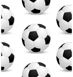 Seamless background with soccer ball vector image