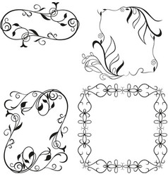 set frame elements isolated on white background vector image vector image