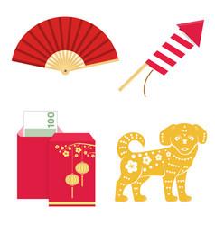 set of chinese new year design elements vector image