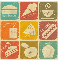 set of Vintage Food Labels vector image