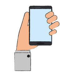smartphone icon image vector image