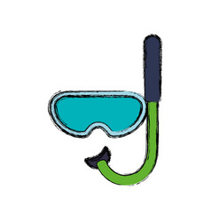 snorkel diving mask vector image