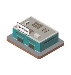 storage building isometric icon vector image