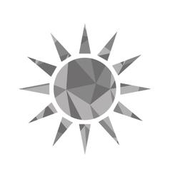 sun shape icon vector image