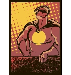 Superhero in the style of the old school vector image