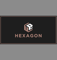 ue hexagon logo design inspiration vector image