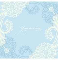 White seamless lace floral pattern vector image