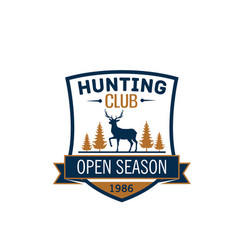 Wild animal icon hunting club open season vector