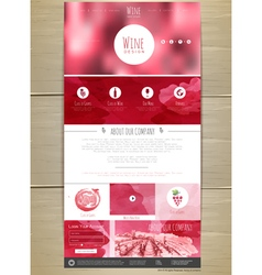 Wine concept web site design vector