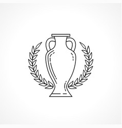 winner cup line isolated on white background vector image