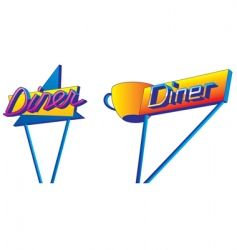 diner signs vector image
