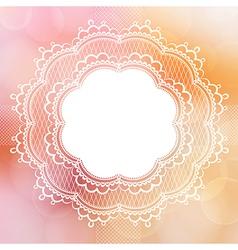 Pink vintage lace border vector image