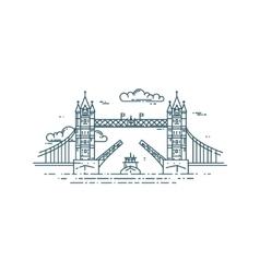 Tower Bridge in London raised vector image