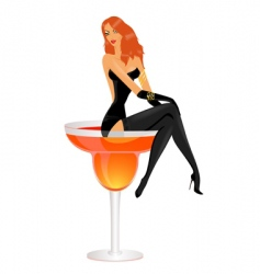 cocktail diva vector image vector image