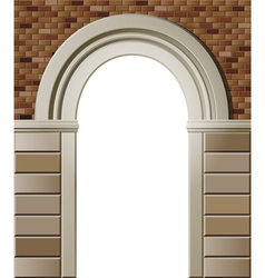 entrance with arch colored template vector image vector image