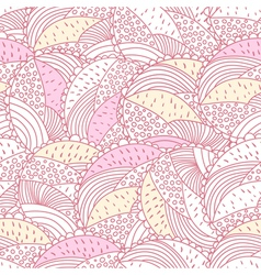 Green and pink doodle vector image vector image
