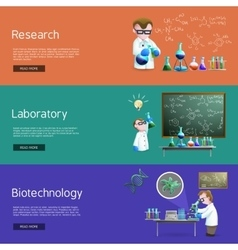 Science Research Banners vector image vector image