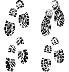 Shoes silhouette vector image