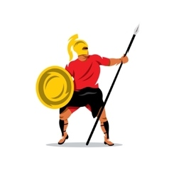 Spartan Warrior Cartoon vector image