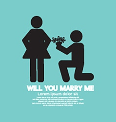 Will You Marry Me Graphic Symbol vector image