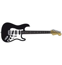 Black electric guitar vector image vector image