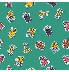 Cleaning icons set pattern vector image vector image