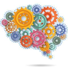 Color Gears Of Brain vector image vector image