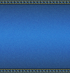 Denim fabric texture with two seams fabric vector image vector image