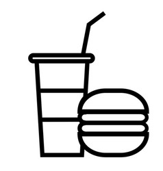 fastfood icon vector image