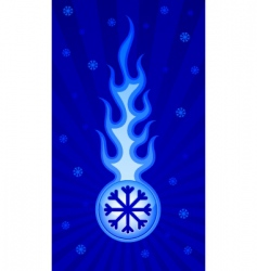 frosty flame vector image