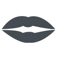 grey lips icon vector image