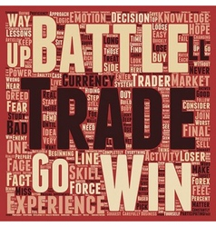 How to Win the Forex Battle text background vector image vector image