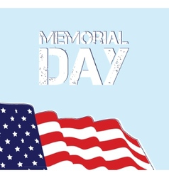 Memorial Day Flag Design EPS 10 grouped for easy vector image