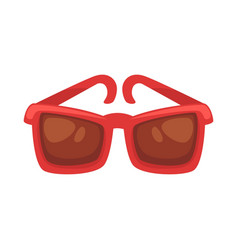red sunglasses isolated on white vector image vector image