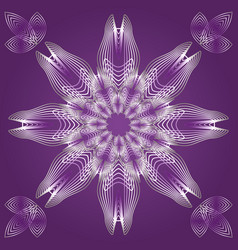 spirograph in white outline with gradient on vector image