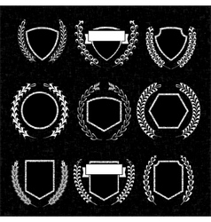 Wreaths insignia and labels for any use vector image