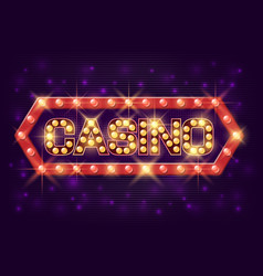 casino poster vintage style casino banner with vector image