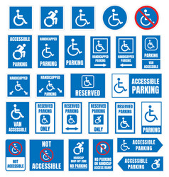 disabled parking sign accesible parking vector image vector image