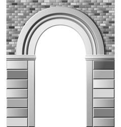 entrance with arch monochrome template vector image vector image