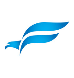 falcon bird logo abstract design template vector image vector image