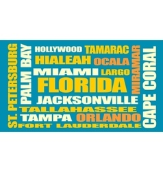florida state cities list vector image vector image
