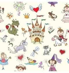 Little princess seamless pattern vector image