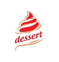 logo dessert vector image