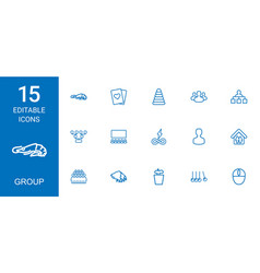 15 group icons vector