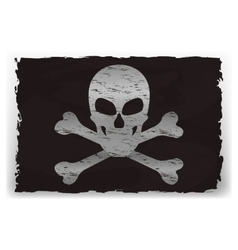 a black pirate flag vector image vector image
