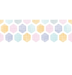Abstract colorful honeycomb fabric textured vector image